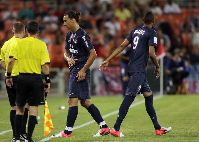 Zlatan Ibrahimovic, Guillaume Hoarau, PSG