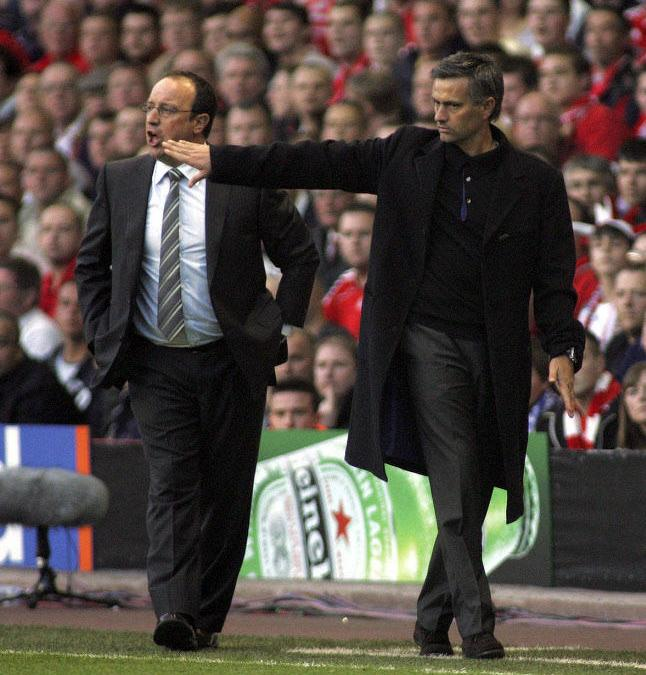Rafael Benitez et José Mourinho, en 2007