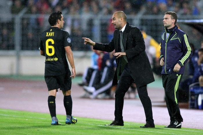 Xavi, Pep Guardiola