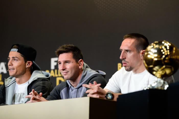 Cristiano Ronaldo, Lionel Messi, Franck Ribéry