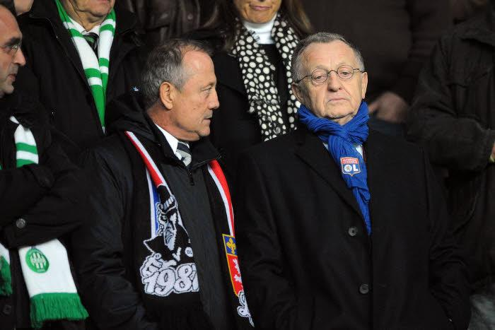 Bernard Lacombe et Jean-Michel Aulas, OL
