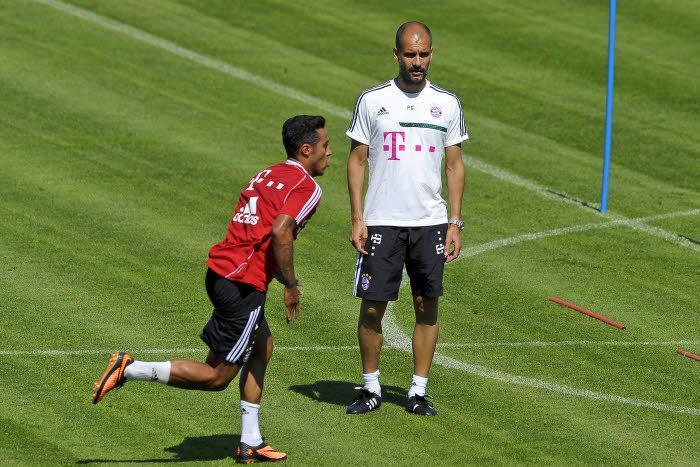Pep Guardiola et Thiago Alcantara, Bayern Munich