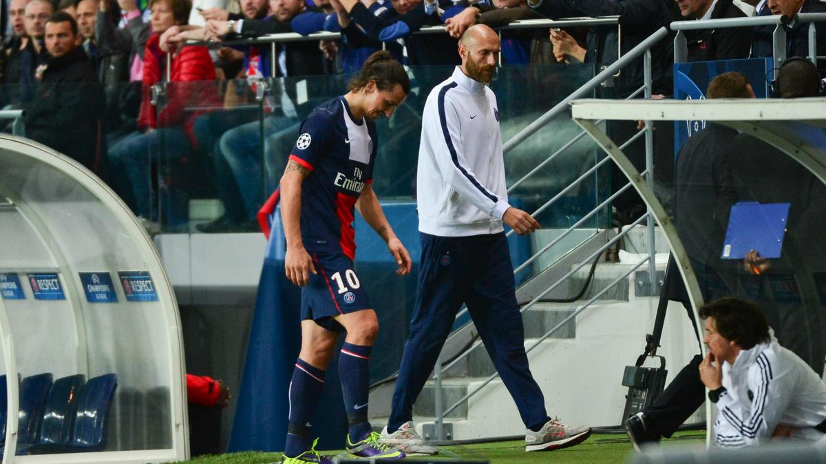 Blessure Zlatan Ibrahimovic
