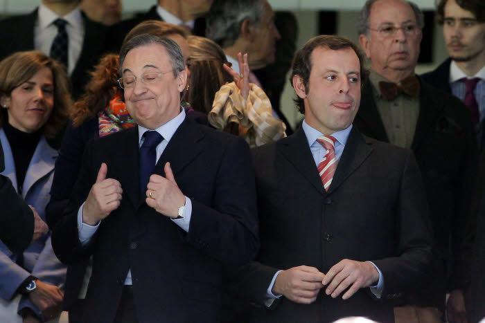 Florentino Pérez et Sandro Rosell