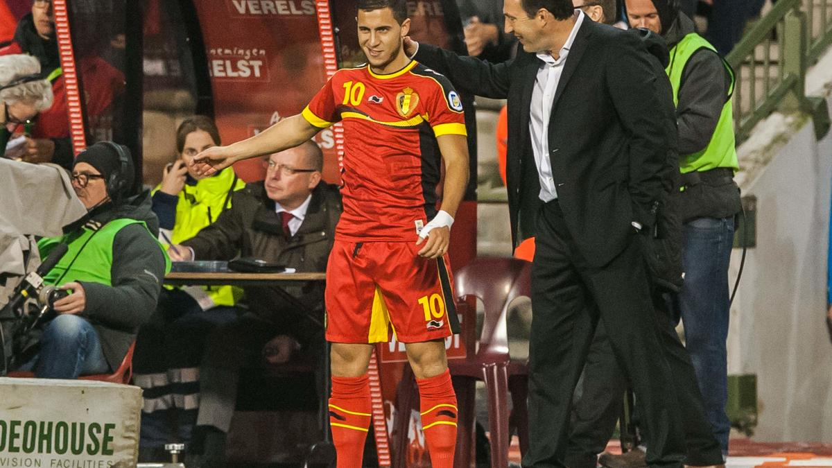 Eden Hazard & Marc Wilmots, Belgique