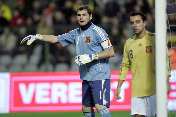 Xavi et Iker Casillas, avec la Seleccion