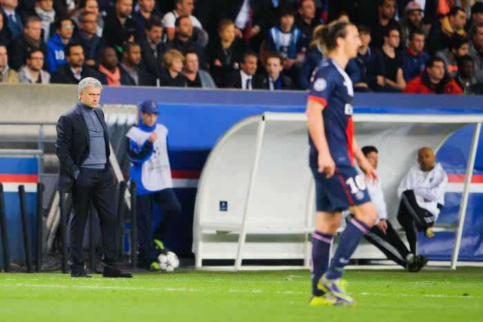 José Mourinho et Zlatan Ibrahimovic, lors du match aller