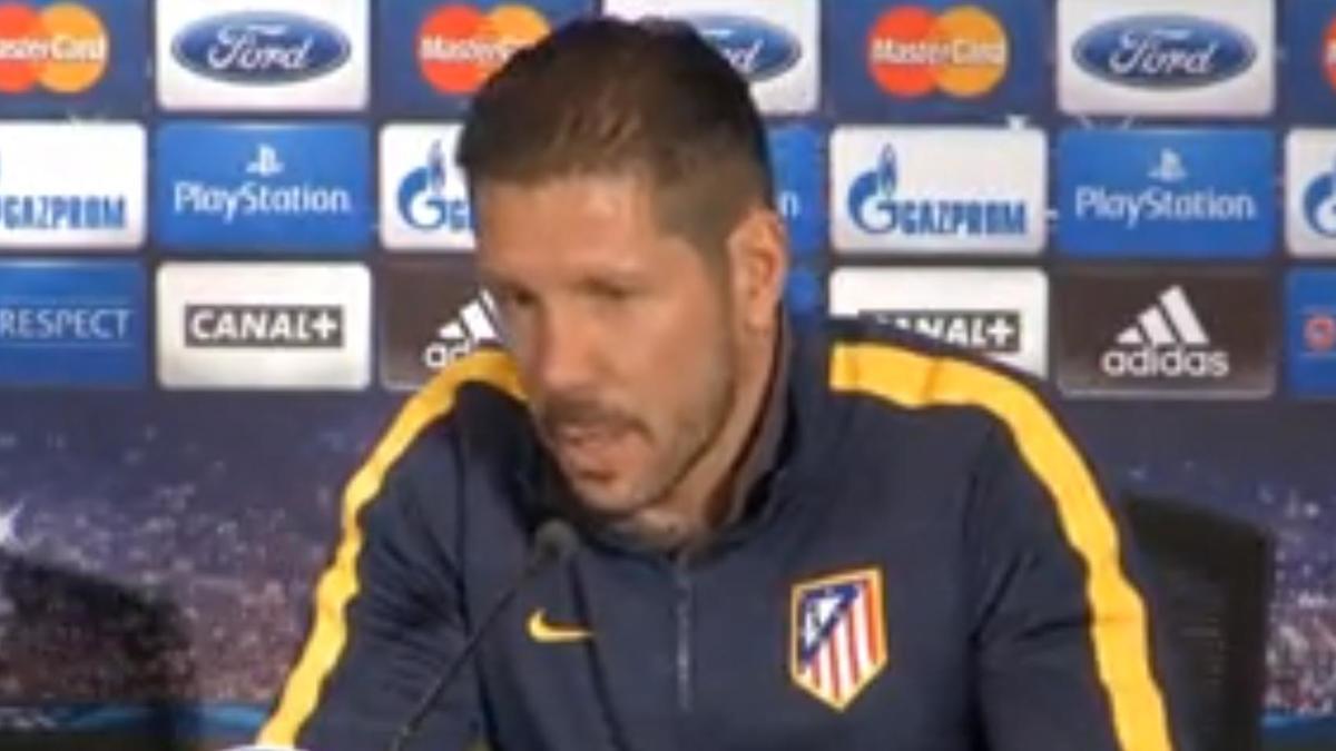 Ligue des Champions - Atlético Madrid/Barcelone : Diego Simeone : «Pas de pression sur nous» (vidéo)