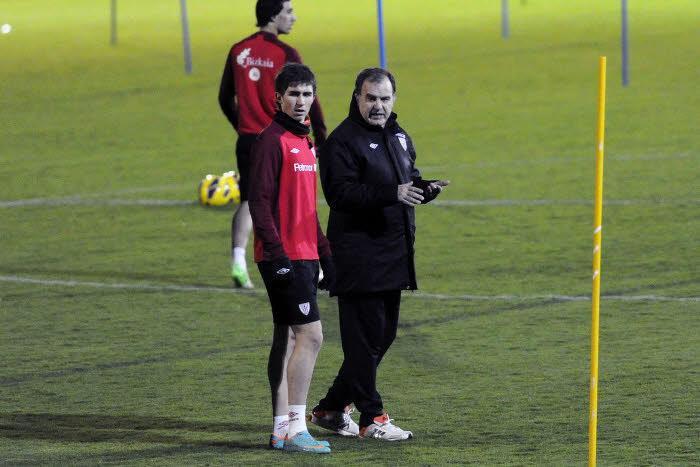 Marcelo Bielsa et Aymeric Laporte, en 2012