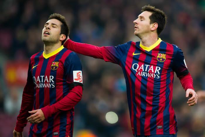 Jordi Alba et Lionel Messi, Barcelone