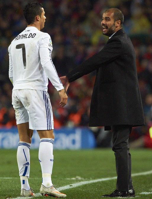 Pep Guardiola et Cristiano Ronaldo
