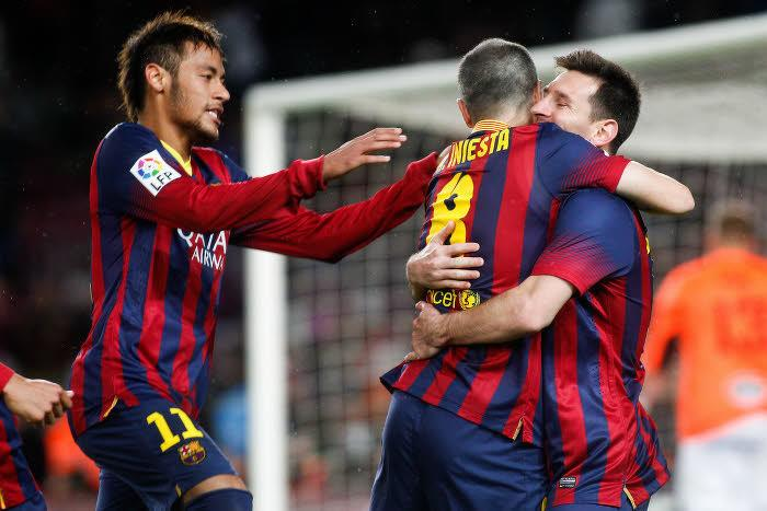 Lionel Messi et Andrés Iniesta, FC Barcelone
