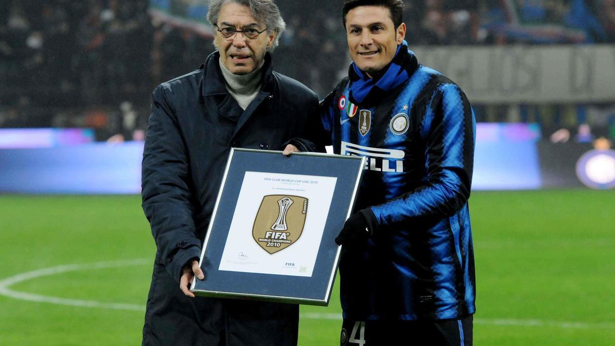 Massimo Moratti - Javier Zanetti