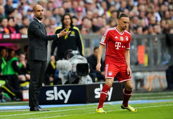 Pep Guardiola et Franck Ribéry, Bayern Munich