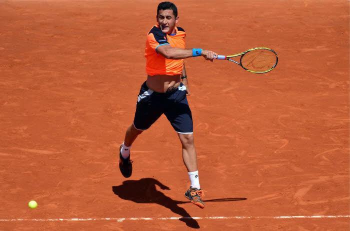 Nicolas Almagro, à Roland-Garros l'an dernier