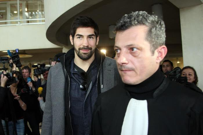 Nikola Karabatic et son avocat, janvier 2013