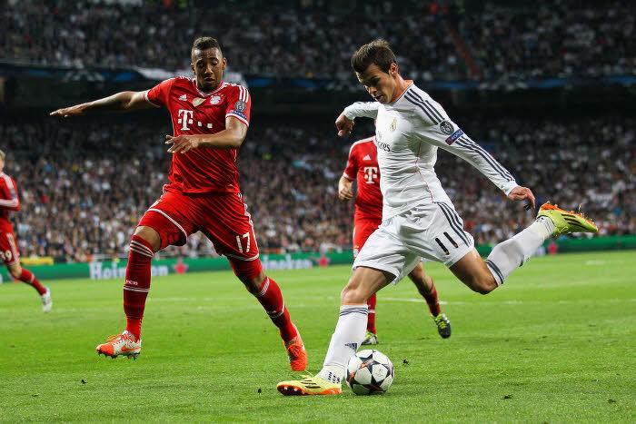 Gareth Bale (Real Madrid) face à Jerome Boateng (Bayern Munich)