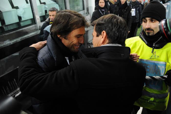 Antonio Conte et Rudi Garcia