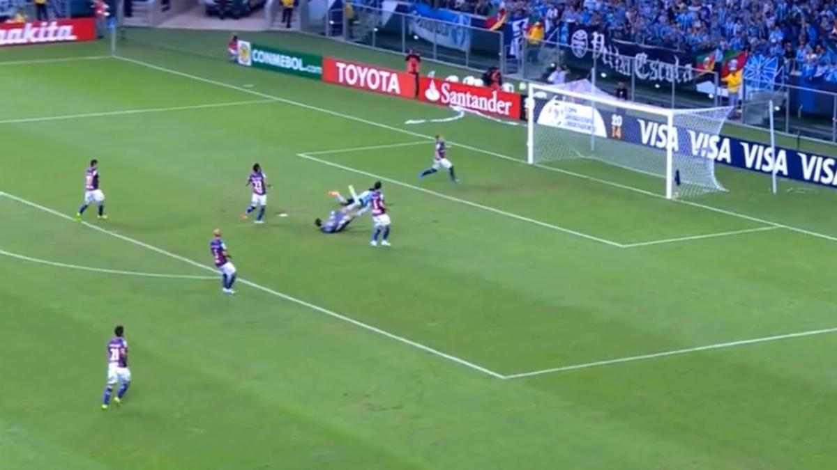 Un sauvetage  miraculeux en Copa Libertadores (vidéo)