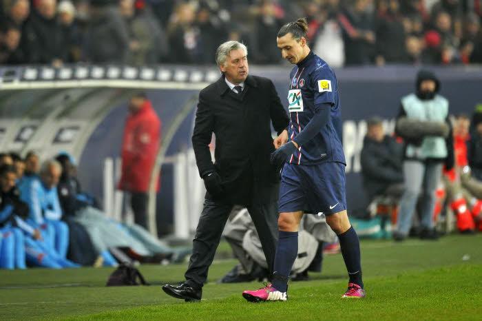 Carlo Ancelotti et Zlatan Ibrahimovic, PSG