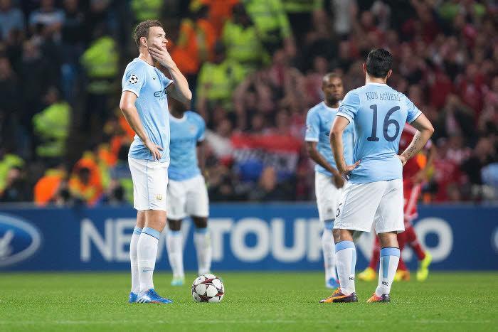Edin Dzeko et Sergio Agüero, Manchester City