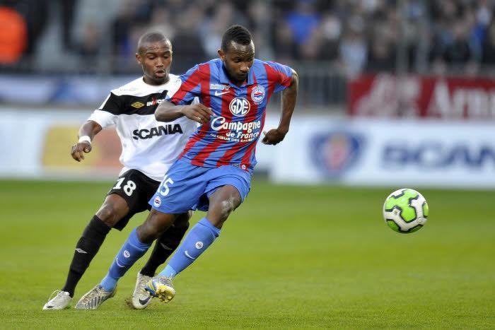 Lenny Nangis (Caen), ici face à Angers