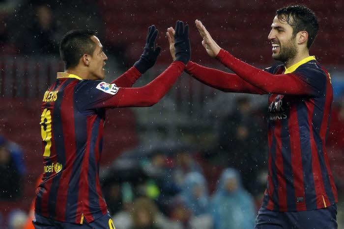 Cesc Fabregas, FC Barcelone, Alexis Sanchez
