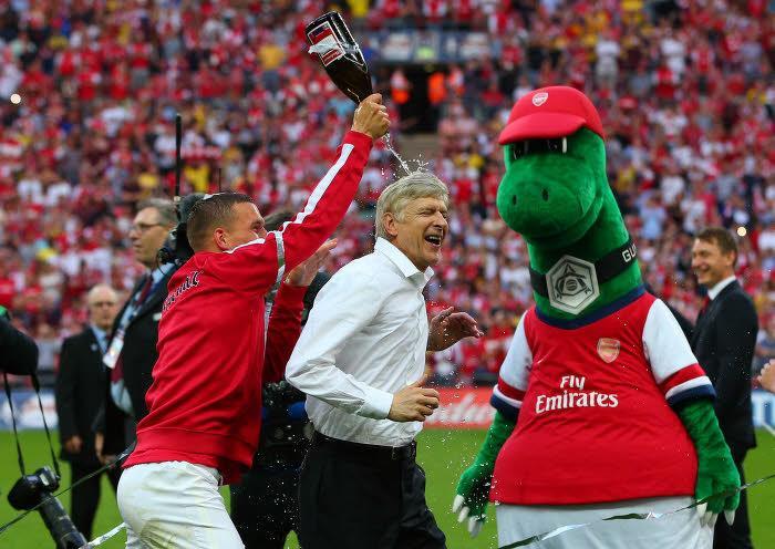 Lukas Podolski et Arsène Wenger, Arsenal