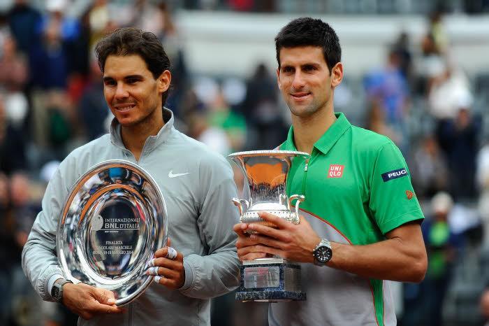 Rafael Nadal et Novak Djokovic, Rome