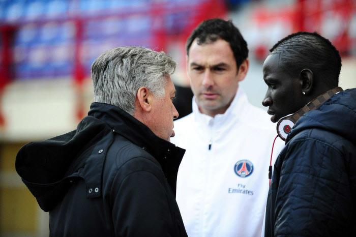 Carlo Ancelotti et Mamadou Sakho, janvier 2012
