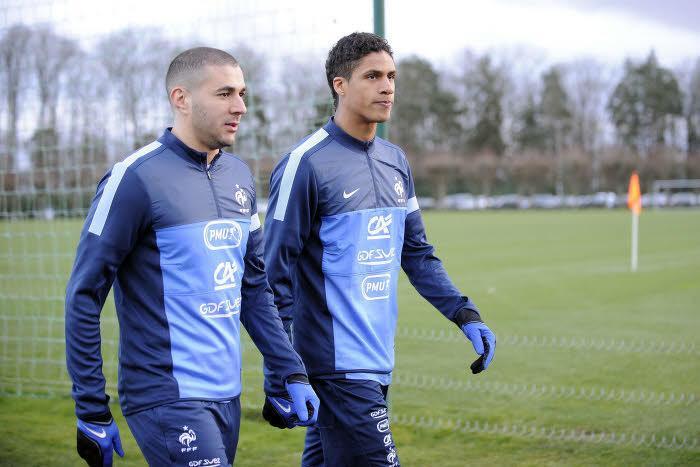 Karim Benzema et Raphael Varane, Équipe de France
