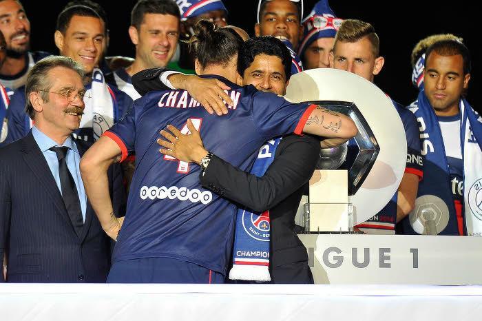 Nasser Al-Khelaïfi et Zlatan Ibrahimovic, PSG