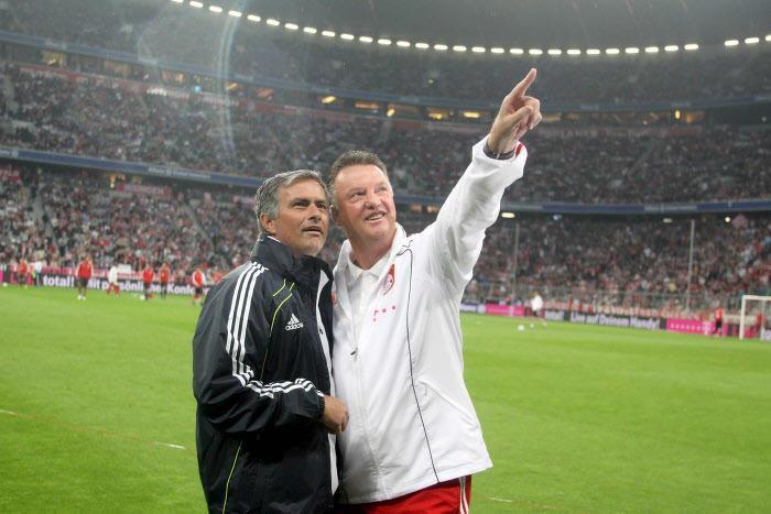 José Mourinho et Louis Van Gaal