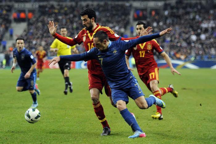 Franck Ribéry, France-Espagne