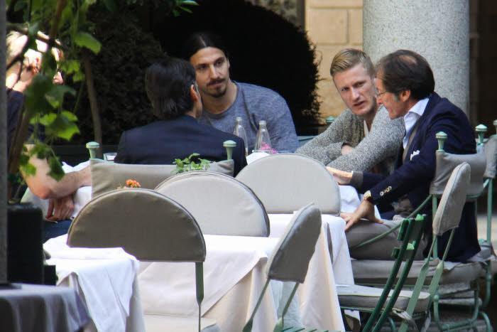 Ignazio Abate et Zlatan Ibrahimovic