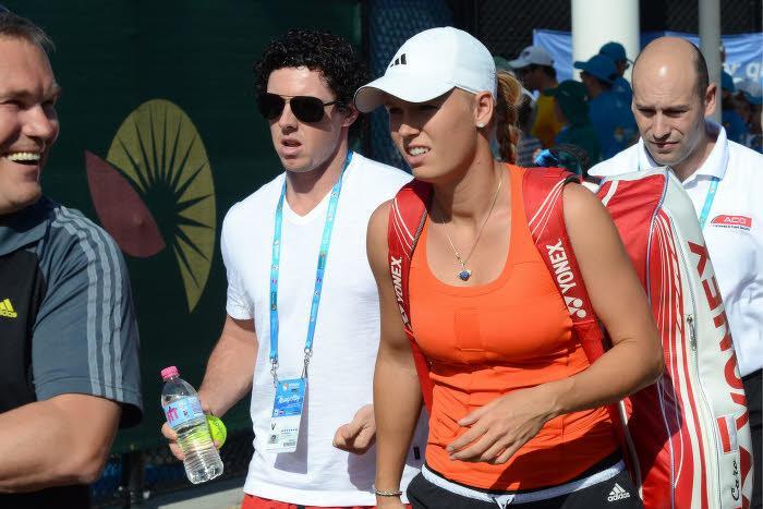 Caroline Wozniacki et Rory McIlroy, en 2012