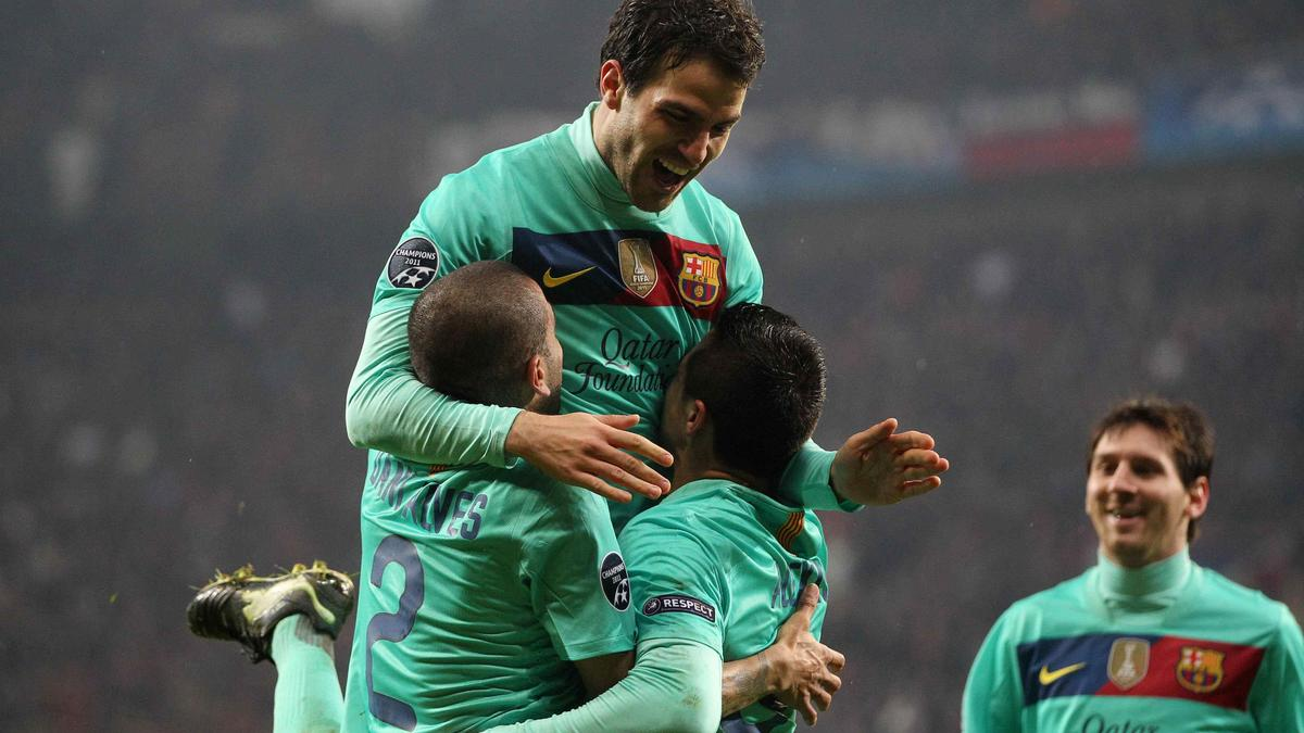 Daniel Alves, Cesc Fabregas & Alexis Sanchez, Barcelone
