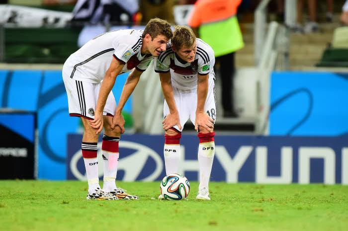 Thomas Müller et Toni Kroos, Allemagne