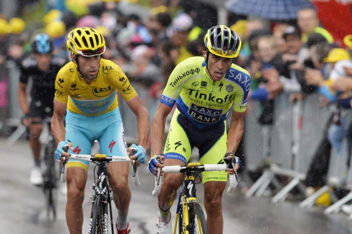 Vincenzo Nibali et Alberto Contador