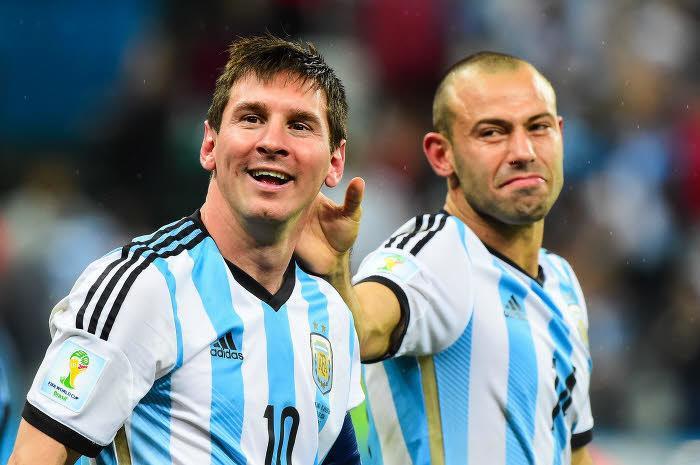 Lionel Messi et Javier Mascherano, Argentine