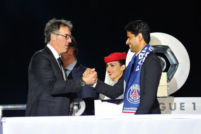 Laurent Blanc et Nasser Al-Khelaïfi, PSG