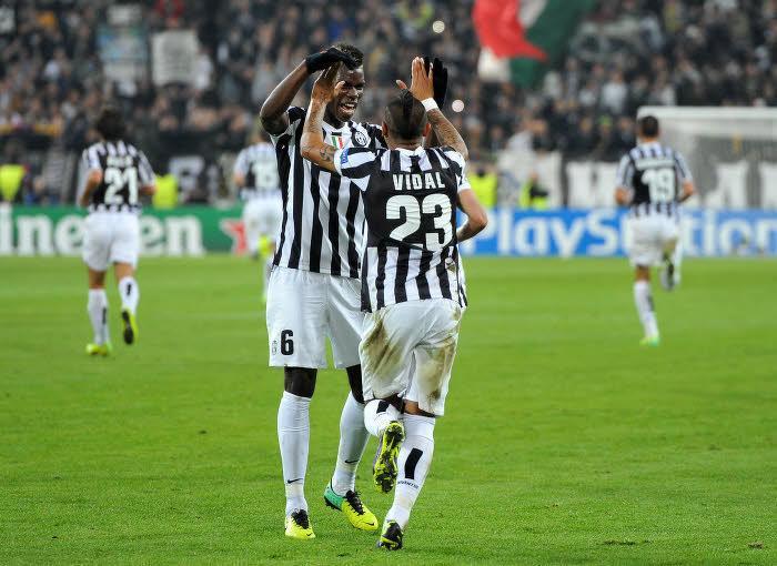 Arturo Vidal, Paul Pogba, Juventus