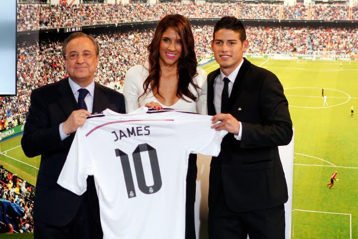 Florentino Perez, Daniela Ospina, James Rodriguez