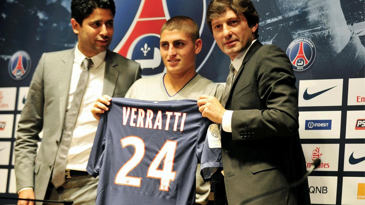 Nasser Al-Khelaifi, Marco Verratti & Leonardo