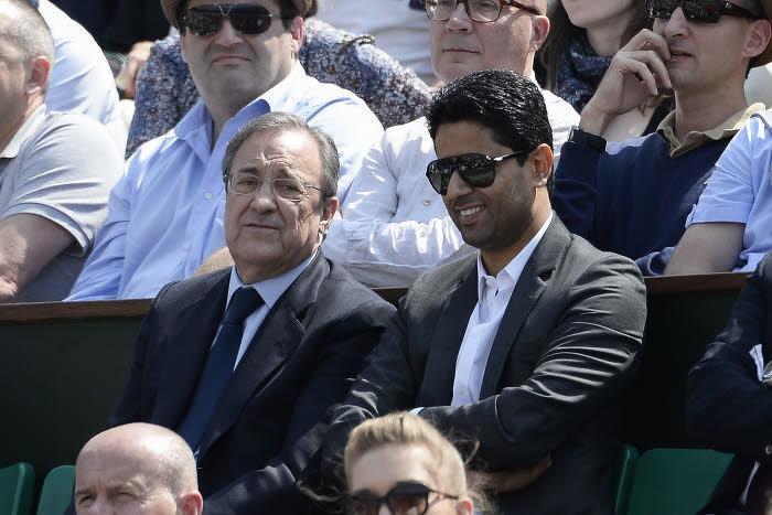 Florentino Pérez et Nasser Al-Khelaïfi, à Roland-Garros