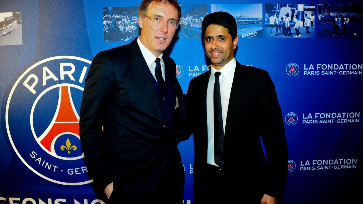 Laurent Blanc & Nasser Al-KhelaIfi, PSG
