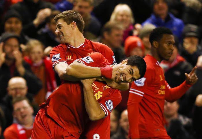 Steven Gerrard et Luis Suarez, Liverpool