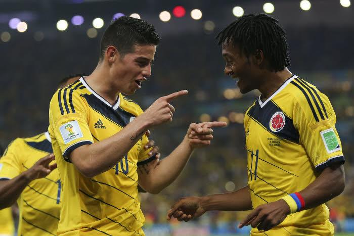 James Rodriguez et Juan Cuadrado, Colombie