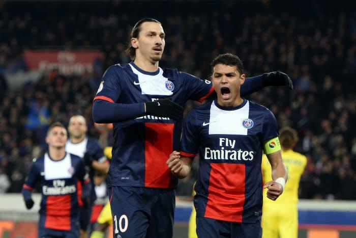 Zlatan Ibrahimovic et Thiago Silva, PSG
