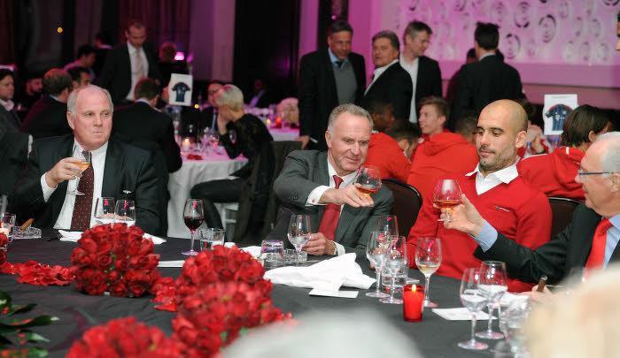 Uli Hoeness, Karl-Heinz Rummenigge et Pep Guardiola, Bayern Munich